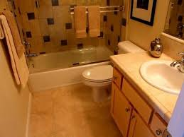 elegant small bathroom design with two tone wall also oval