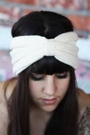 infinity headband headband knitted streatch linen white infinity wide