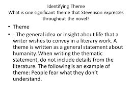 main themes dr jekyll and mr hyde robert louis stevenson dr jekyll and mr hyde identifying theme