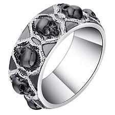 art deco skeleton ring holder images Jewh retro black evil skull rings for men women jpg
