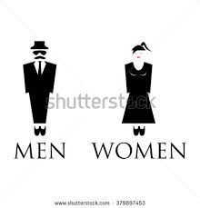 Mens And Womens Bathroom Signs Man Lady Toilet Sign Stock Vector 349577771 Shutterstock