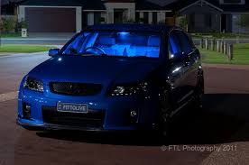 blue light on car front view car exterior with blue led footwell lights and flickr