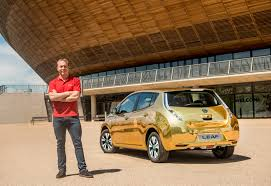 gold nissan car gilded nissan leaf sweetens the deal for olympians