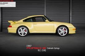 Porsche 911 Yellow - 1997 porsche 911 carrera 4s for sale in colorado springs co