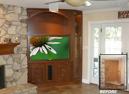 Corner Tv Cabinets For Flat Screens With Doors C 200 Corner Home Theater Furniture Systems Great For Flat Hdtv