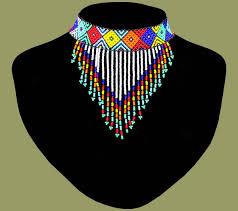 african beads necklace images African beaded necklace choker tassle zulu beadwork pinterest jpg