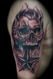 nor cal star and skull tattoo tattoomagz