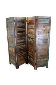 mexicali rustic wood room divider