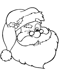santa claus winking coloring free printable coloring pages