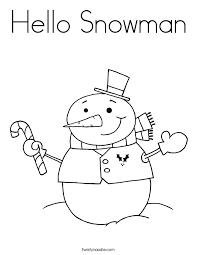 snowman coloring twisty noodle