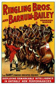 Barnes And Bailey Circus 1920s Ringling Bros Barnum U0026 Bailey Circus Horse Poster Retro