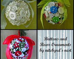 button ornaments etsy