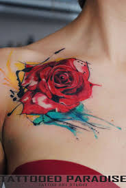 best 25 colorful rose tattoos ideas on pinterest purple rose