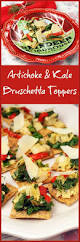 Christmas Appetizers Easy by Artichoke U0026 Kale Bruschetta Toppers And Easy Holiday Decorating Tips