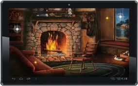 live fireplace wallpaper binhminh decoration