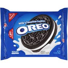 oreo sandwich cookies chocolate 14 3 oz walmart com