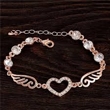 chain link charm bracelet images Beautiful heart wing charm bracelet with chain link my soul spirit jpg