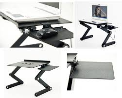 computer table amazon com icraze adjustable vented laptop table laptop computer