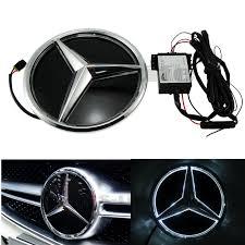 mercedes car emblem illuminated car led grille blled logo emblem light for mercedes