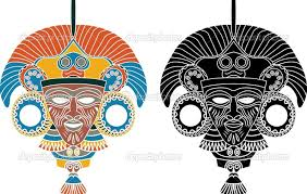 aztec mask template 28 images free masks coloring pages