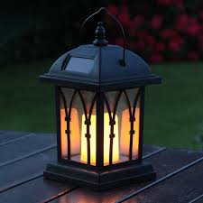 solar outdoor decorative candle lantern home outdoor decoration