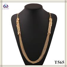 aliexpress gold necklace images Latest design saudi gold jewelry necklace layered chain pendant jpg
