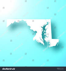 maryland map vector maryland map isolated on bright blue stock vector 678188461