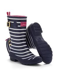 womens boots joules joules womens mid calf boot wellies navy stripe a mid