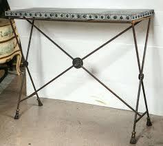 deco en zinc pair of iron zinc top x form console tables at 1stdibs