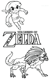 toon zelda coloring pages printable for kids video game sheik