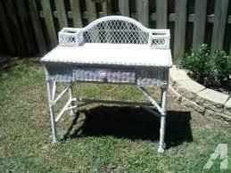 White Wicker Desk by White Wicker Desk 12th Ave Pensacola For Sale In Pensacola