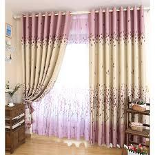 Purple Design Curtains Leaf Purple Thermal Beautiful Curtains Design