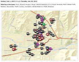 Map Of Grants Pass Oregon by Grants Pass Crime Mapping July Through 7 26 12 Securing Our Safety