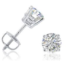 earring stud igi certified 1ct tw diamond stud earrings set