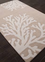 Nautical Themed Rugs Coastal Seaside Coral Rug Golden Beige Coral Rug Plush And Coral