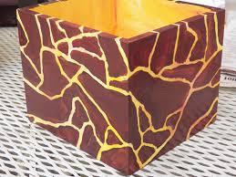 hand painted box animal print boxes original storage box
