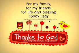 thanks to god for my family christian cards for you