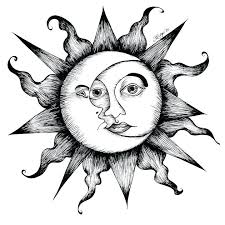moon and sun designs black ink sun and moon forearm