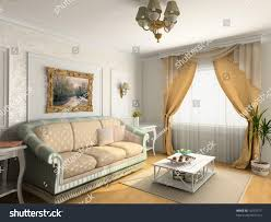 modern classic interior design private apartment stock