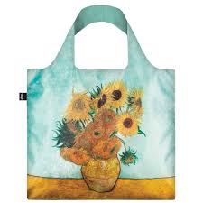 Reusable Shopping Bags Loqi Reusable Shopping Bag Vincent Gogh Sunflowers Biome