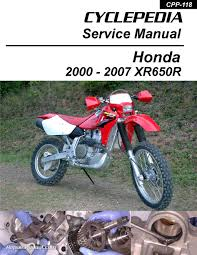 honda xr650r motorcycle cyclepedia printed service manual
