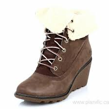 womens brown leather boots canada canada timberland womens brown amston roll top wedge