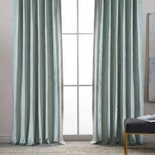 Velvet Curtain Club Blue Velvet Curtains Provencial Blue Vintage Textured Faux