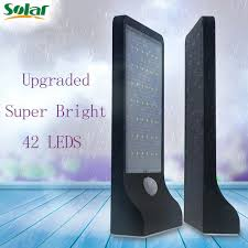 driveway motion sensor light high bright 42 leds solar motion sensor light ls deck yard garden