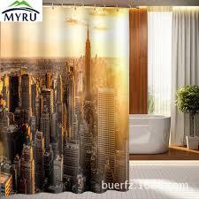 Manhattan Curtains Manhattan Architecture Individuality 3d Printing Bath Room Curtain