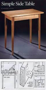 simple side table plans simple side table plans furniture plans and projects