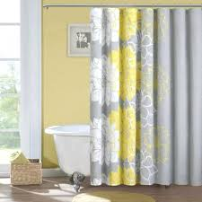 Yellow Patterned Curtains Gray Patterned Curtains Yellow And Grey Shower Pszczelawola Info