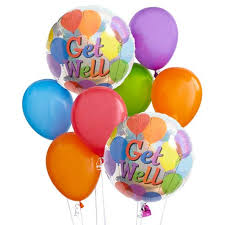 get well soon and balloons get well balloon bouquet at send flowers