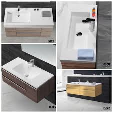 Modern Basins Bathrooms by Various Design Acrylic Resin Washing Basin Faux Stone Basin