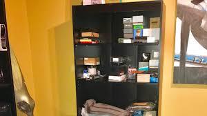 south shore axess collection 5 shelf black bookcase review youtube